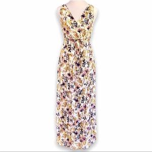 EUC Old Navy Maternity Floral Maxi Dress, XS